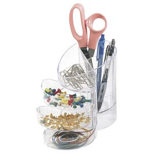 Eldon Portable Storage Holder Clear
