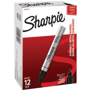 Sharpie Pro Metal Permanent Markers Black 12 Pack