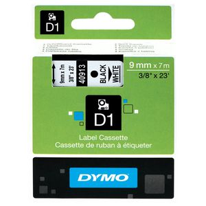 DYMO D1 Label Tape 9mm Black on White