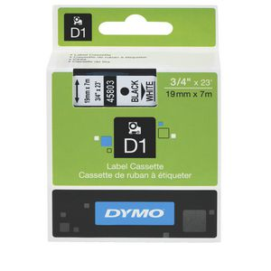 DYMO D1 Label Tape 19mm Black on White