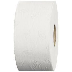 Tork Mini Jumbo 2 Ply Toilet Paper White 850 Sheet Roll