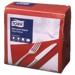 Tork Advanced Luncheon Napkins 2 Ply Red 100 Pack