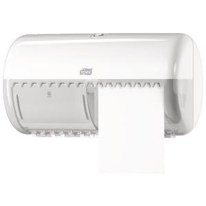 Tork T4 Twin Toilet Paper Roll Dispenser White
