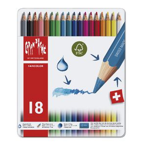 Caran d'Ache Fancolour Water Soluble Pencils 18 Pack