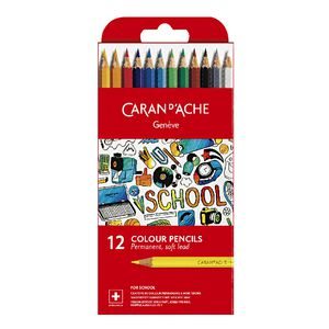 Caran d'Ache Permanent Colour Pencils 12 Pack