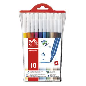Caran d'Ache Fancolour Fibre Tipped Coloured Pens 10 Pack