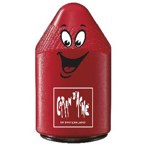 Caran d'Ache Plastic 2 Hole Sharpener Red