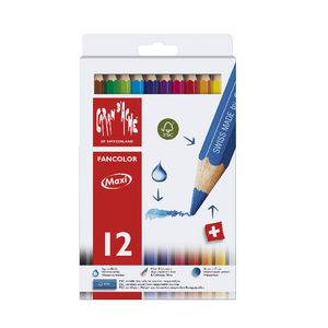 Caran d'Ache Fancolour Large Giant Pencils 12 Pack