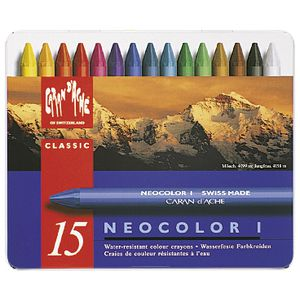 Caran d'Ache Neocolor Pastels Assorted 15 Pack
