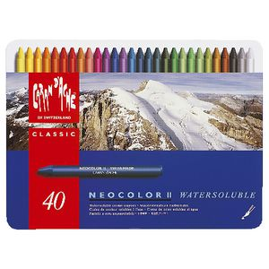 Caran d'Ache Neocolor Water Soluble Wax Pastels 40 Pack