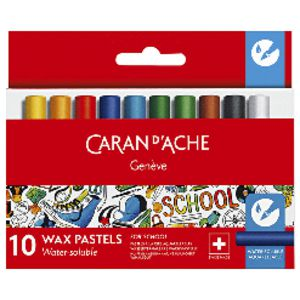 Caran d'Ache Water Soluble Wax Pastels 10 Pack