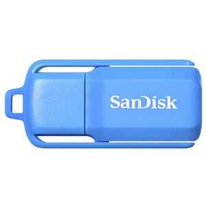 SanDisk Cruzer Switch USB 2.0 Flash Drive 16GB Neon Blue