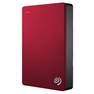 "Seagate 4TB Backup Plus 2.5"" Portable Hard Drive Red"