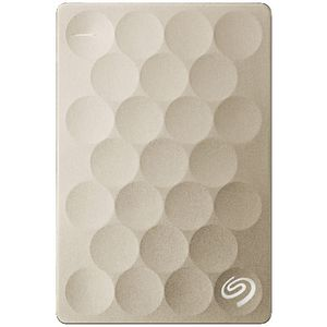 Seagate 2TB Backup Plus Ultra Slim Portable Hard Drive Gold
