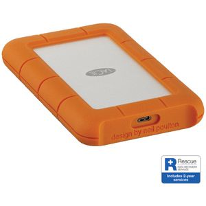 LaCie Rugged USB-C Portable Hard Drive 2TB