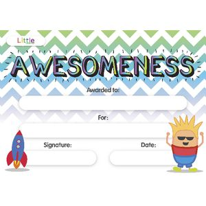 Little Learner Awesome Certificate 10 Pack at Officeworks in Campbellfield, VIC | Tuggl