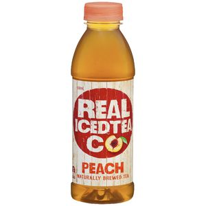 Real Ice Tea Co. Peach Tea 500mL 12 Pack