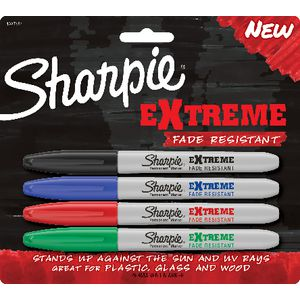 Sharpie Extreme Permanent Markers Assorted 4 Pack