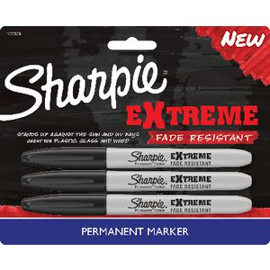 Sharpie Extreme Permanent Markers Black 3 Pack