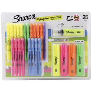 Sharpie Highlighters Value Pack 25 Pack