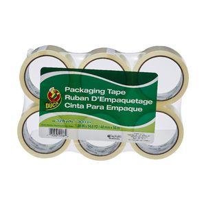 Duck Standard Packaging Tape 48mm x 50m Clear 6 Pack