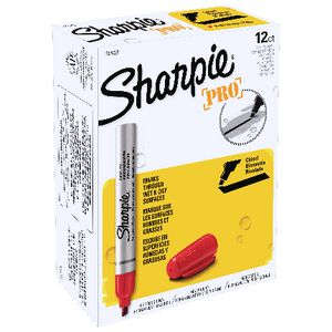 Sharpie Pro Markers Chisel Red 12 Pack