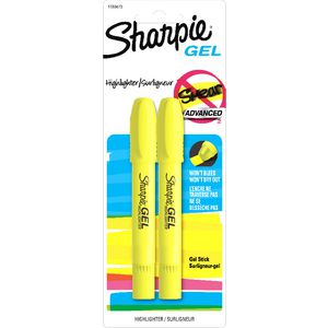 Sharpie Gel Highlighters Yellow 2 Pack