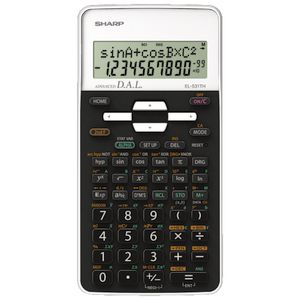 Sharp Scientific Calculator Black/White EL-531TH
