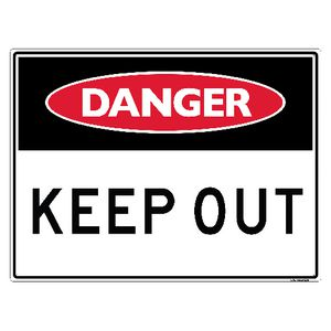 Sandleford Keep Out Sign 450 x 600mm