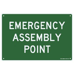 Sandleford Emergency Assembly Point Sign 30 x 45cm