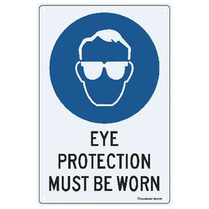 Sandleford Eye Protection Sign 30 x 45cm
