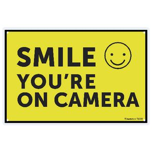 Sandleford 30 x 45cm Sign Smile You're On Camera