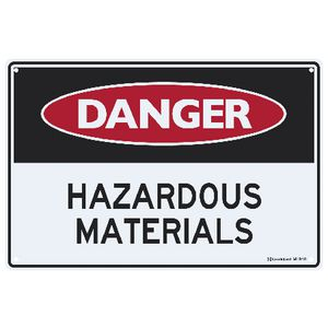 Sandleford Hazardous Materials Sign 30 x 45cm