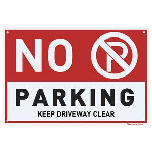 Sandleford No Parking Sign 30 x 45cm