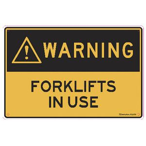 Sandleford Forklifts in Use Sign 30 x 45cm