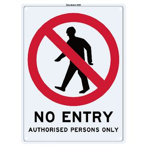 Sandleford No Entry Sign 22.5 x 30cm