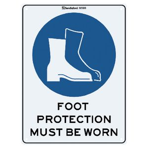 Sandleford Foot Protection Sign 22.5 x 30cm