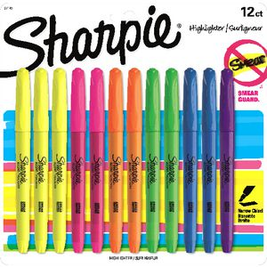 Sharpie Pocket Highlighters Assorted 12 Pack