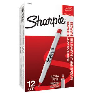 Sharpie Ultra Fine Marker Red 12 Pack