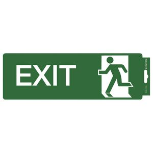 Sandleford Exit Straight Self-adhesive Sign