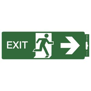 Sandleford Self Adhesive Sign Exit Right