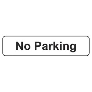 Sandleford No Parking Self-adhesive Sign