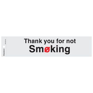 Sandleford Thankyou for Not Smoking self-adhesive Sign Silver