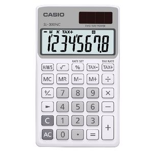 Casio Portable Calculator 8 Digit White