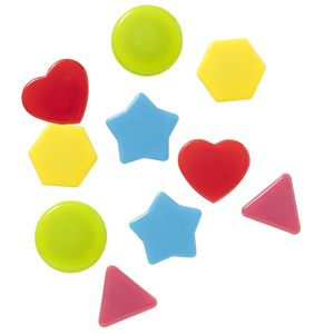 J.Burrows Magnets Assorted Shapes 10 Pack