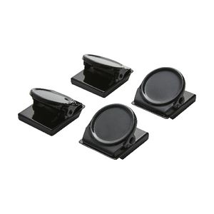 J.Burrows Magnetic Clips Round Black 4 Pack