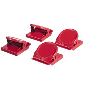 J.Burrows Magnetic Clips Round Red 4 Pack | Tuggl
