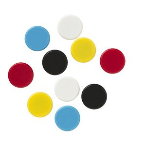J.Burrows Round Magnets Assorted 10 Pack
