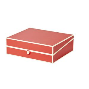 Semikolon A4 Document Box Red