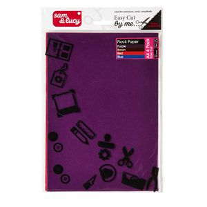 Sam and Lucy Flock Paper Assorted 4 Pack